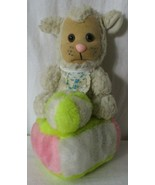 "10"" VINTAGE LE BE BE LAMB WITH BALL RATTLE STUFFED ANIMAL TOY PLUSH LOVEY - $29.69"