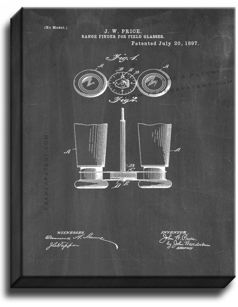 Primary image for Binoculars Patent Print Chalkboard on Canvas