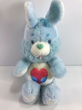 Care Bears Cousins Swift Heart Bunny Rabbit Plush Blue Vintage 1984 Kenn... - $9.90
