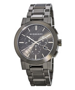 BURBERRY Chronograph Gray Ion Plated Stainless Steel Bracelet 42mm Mens ... - $413.54