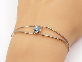 925 Sterling Silver - Vintage Petite Turquoise Horse's Head Cuff Bracele... - $23.84