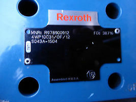 REXROTH DIRECTIONAL VALVE R978900912 # 4WP10C31/0F/12S043A-1504 image 3
