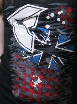 Famous Stars & Straps Womens Juniors London Punk Scoop Neck Black T-Shirt image 3