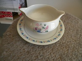 Theodore Haviland Fox Glove gravy with under plate 1 available - $18.27