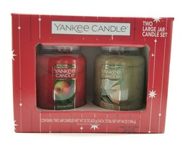 Yankee Candle 2 Large Jar Candle Set Macintosh & Sage & Citrus. 22oz Holiday New - $57.38