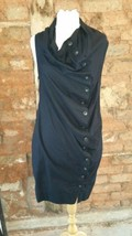 Black Cotton AllSaints Shirt Dress Size 12 - $73.98