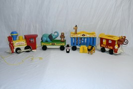 Complete Vintage Fisher Price Little People Circus Train #991 Looks Great 1120! - $84.15