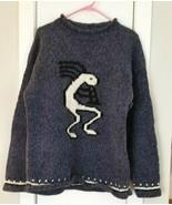 LA LLAMA 100% Wool PULLOVER SWEATER Handmade Ecuador XL KOKOPELLI - $75.00