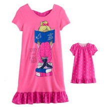 Girl 4-14 and Doll Matching Reading Nightgown Clothes ft American Girl D... - $16.99
