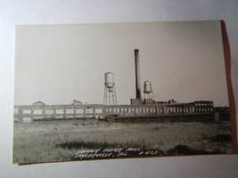 Real Photo RPPC Post Card Hopper Paper Mill Taylorville IL - $10.00