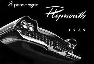 Primary image for 1959 Plymouth 8 Passenger - Promotional Advertising Poster