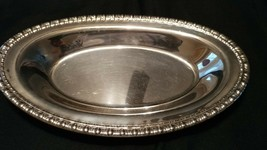 "Silver Plated Oval Bread Tray 12"" by 7"" - $5.00"
