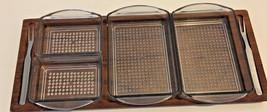 Danish Modern Denmark Teak Wood Relish Serving Tray Board & Dishes, 13.5... - $25.82
