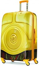 Star Wars Hardside Spinner 28, C3PO Yellow Suitcase Bag Traveel Pack Tot... - $227.94