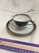 Flintridge China Grecian Key Cup And Saucer - $24.18