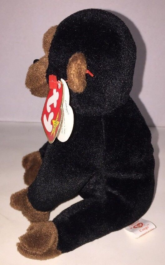 be0829e3cbb TY CONGO Beanie Baby Gorilla Monkey MWMT 5th Gen Retired FAST SHIPPING!