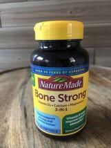 Nature Made - Bone Strong - Vit D3, Calcium, & Magnesium -60 Softgels Exp 10/21+ - $12.16
