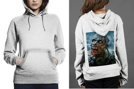Classic Hoodie White women Zombie The Walking Dead - $28.99