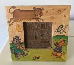 """NURSERY RHYME HEY DIDDLE DIDDLE PHOTO PICTURE FRAME 3"""" opening Holds 3.5... - $11.88"""
