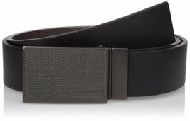 Calvin Klein Men's Reversible Plaque Buckle 40mm Genuine Leather Belt 7539396