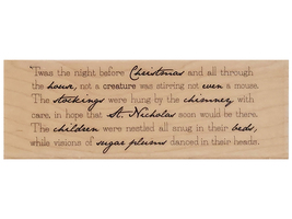 Hampton Art 2009 'twas the Night Background Wood Mounted Rubber Stamp #PS0184