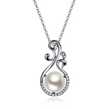 Platinum Plated Cubic Zirconia Peacock Animal Artificial pearl (12mm) - $72.91