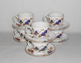 Royal Worcester Evesham Gold Cups & Saucers ~ Set of 6 ~ Fine English Porcelain  - $43.00
