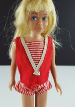 Skipper 950 Red Sailor One Piece Swimsuit 1964 Barbie Original Clothing - $8.90