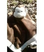 Monkey Blanket Tiddliwinks Brown Cream Monkey Velour Lovey Security Blan... - $19.79
