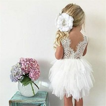 Summer Dresses For Girl 2018 Girls Clothing White Beading Princess Party... - $8.86+