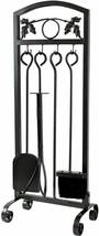 Fire Place Tools Set Heavy Duty Iron Holder for Log Toolset Tongs Shovel... - $69.29