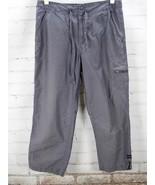 Columbia Crop Cargo Pants Women's Size 6?? Gray Nylon Drawstring Camping... - $24.75