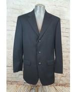 Brooks Brothers blazer 40 charcoal gray pinstripe wool - $18.69