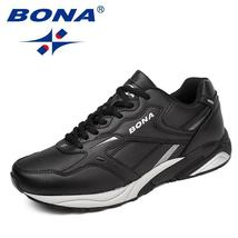 BONA Classics Running New Up Shoes Men Split Style Lace Athletic Cow Shoes Men P r5IrqCw
