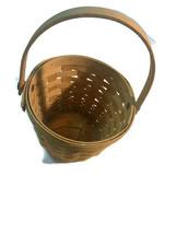 "Longaberger 5""x7"" Wall Basket 1998 Handwoven dated Handle image 2"