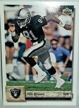 Tim Brown #81 WR 1992 Upper Deck NFL CARD Los Angeles Raiders card #218 - $1.98