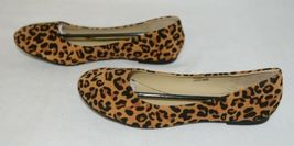 Anna Truman 1 Loepard Print Suede Womens Flats Size 7 And Half image 4