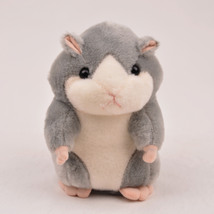 Electric plush toy recording music gray hamster toy - $18.00