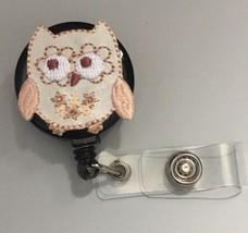 Cute Owl badge reel ID Key Card holder ID lanyard RN School ID Scrubs Black - $8.99