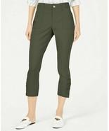 New INC International Concepts Ruched Hem Cropped Pants 8 Skinny Leg NWT - $35.63