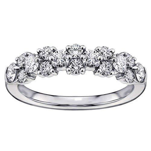 VIP Jewelry Art 1.00 CT TW Brilliant Cut Garland Diamond Wedding Band in Platinu
