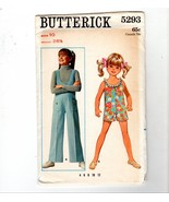 70s Butterick Girls Groovy Jumpsuit Pants Shorts #5293 Sewing Pattern Si... - $10.40