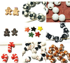 Small Ceramic Bead Choose from 69 Variations Animals, Birds, Reptiles and More!! image 1
