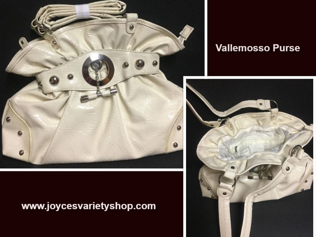 Vallemosso Patent Leather Purse Off White