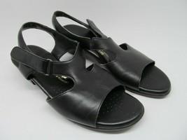 SAS Tripad Suntimer Womens Black Leather T-Strap Comfort Sandals Size 11 M - $21.56