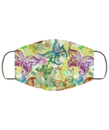 Face Mask Butterflies Butterfly Pattern v2 2 Ply Lightweight and Breatha... - $13.95