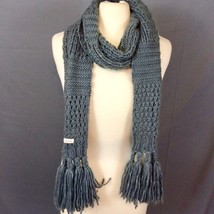 """Echo Gray Long Knit Scarf With Fringe 43"""" long  - $14.24"""