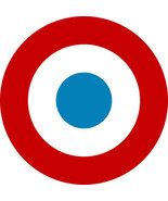 French Tricolour Target contoured vinyl window cling sticker Mod Scooter... - $3.76