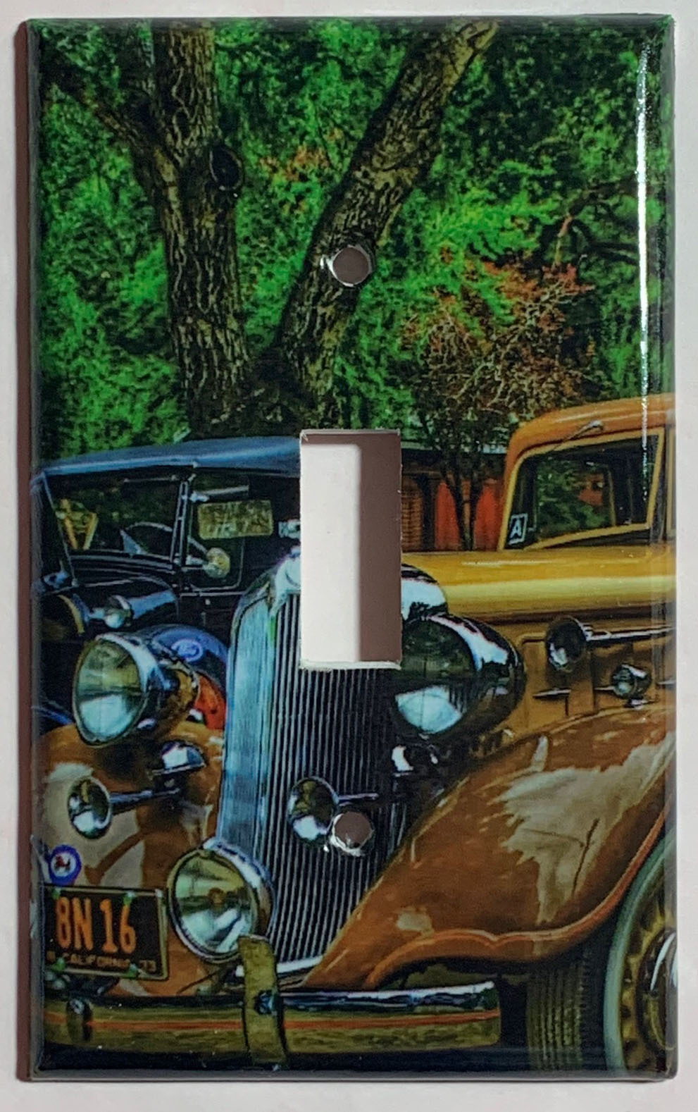 Old Classic Car Light Switch Outlet Toggle Rocker Wall Cover Plate Home decor