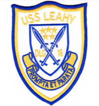 "5"" NAVY USS DLG-16 LEAHY LEADER EMBROIDERED PATCH - $23.74"